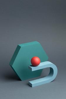 3d renderowane abstrakcyjne rozmieszczenie elementów projektu
