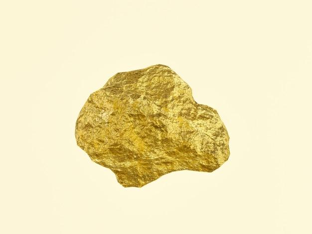 3d renderowane bryłki czystego złota.