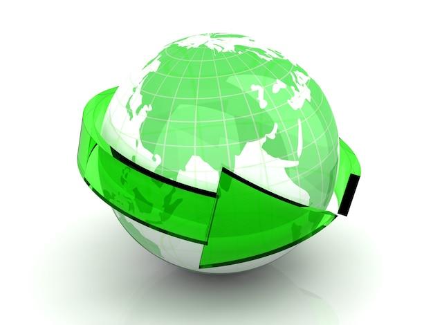 3d renderowane ilustracja. symbol światowej gospodarki.