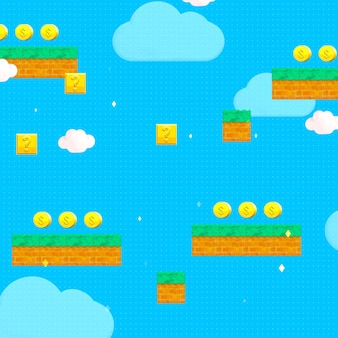 3d renderowane klasyczne tło w stylu retro gier wideo
