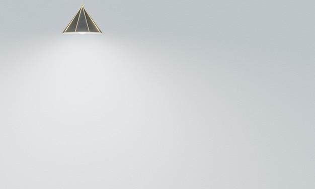 3d renderowane lampy sufitowe z białym tle ściany cementu