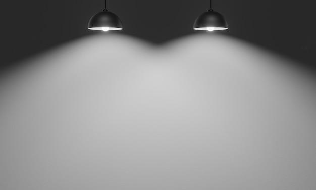3d renderowane lampy sufitowe z cementowym tle ściany