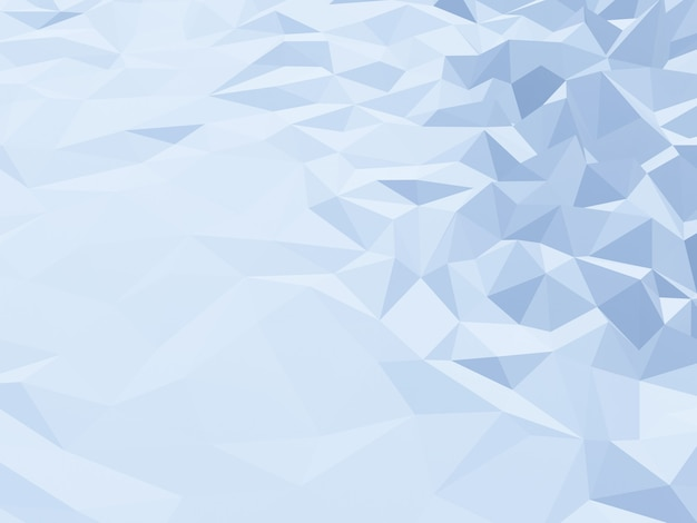 3d renderowane low poly ice mountain