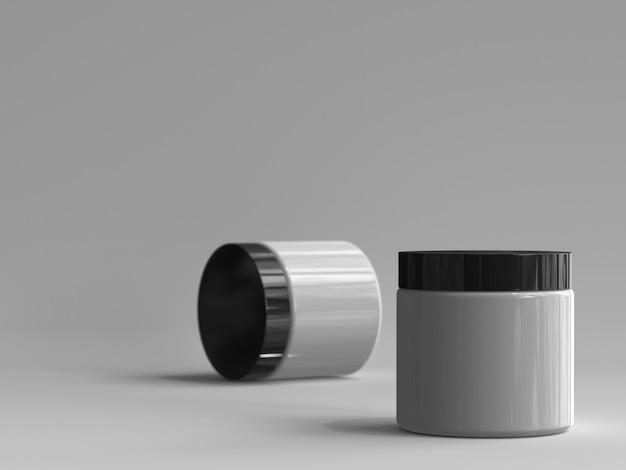 3d renderowane słoik kosmetyczny bez etykiety