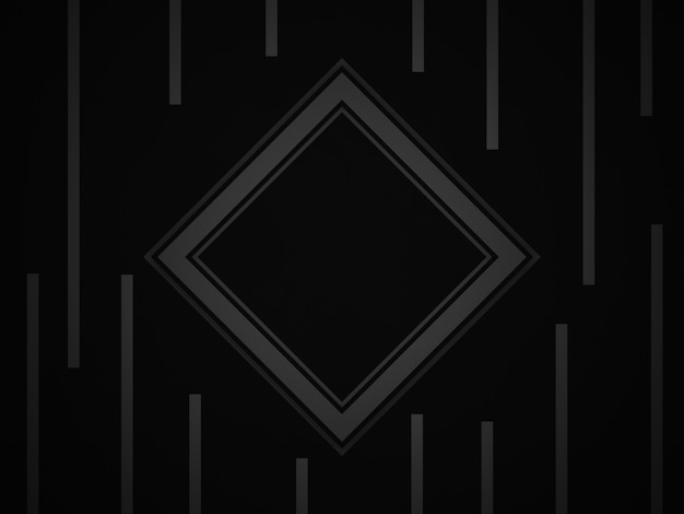 3d renderowane streszczenie czarne tło geometryczne.