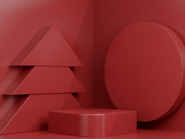 3d renderowane studio makiety świąteczne tło do prezentacji produktu