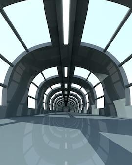 3d renderowane wnętrze.