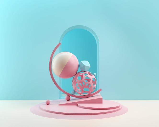 3d renderowania abstrakcyjny kształt tła