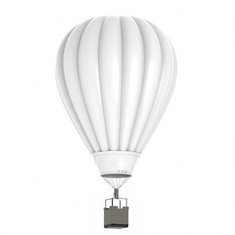 3d renderowania balon na ogrzane powietrze na białym tle