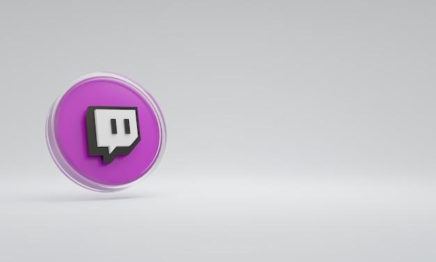 3d renderowania ilustracja ikona logo szkło drgnięcie