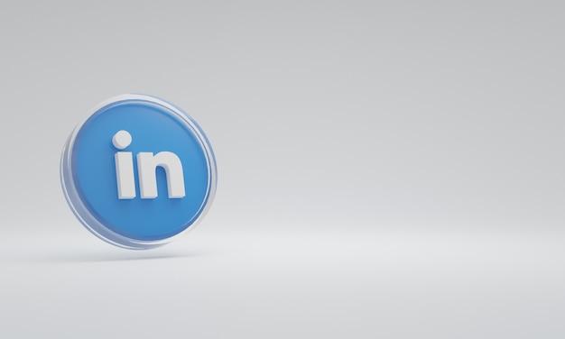 3d renderowania ilustracja ikona logo szkło połączone w