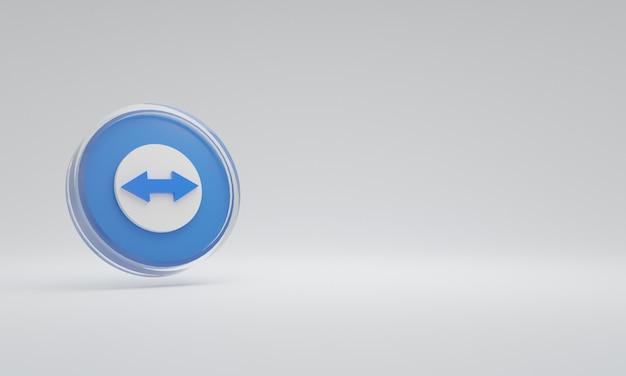 3d renderowania ilustracja ikona logo szkło zespół widza
