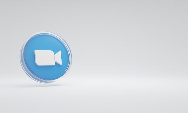 3d renderowania ilustracja ikona logo szkło zoom