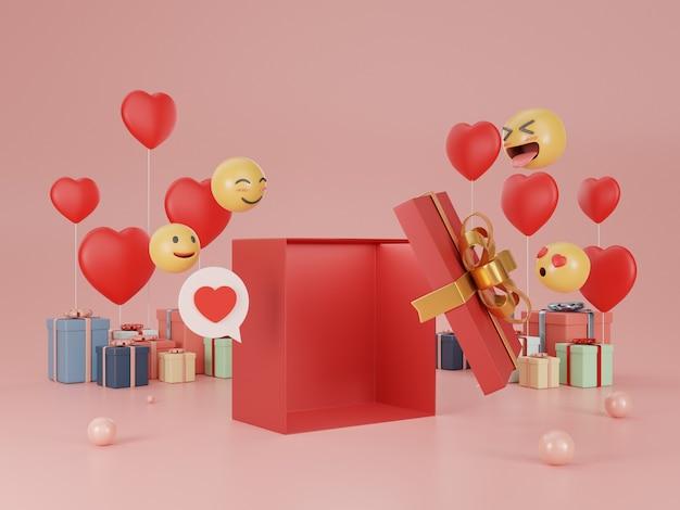 3d renderowania ilustracja pudełka na prezenty