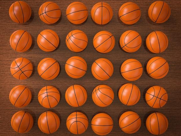 3d renderowania piłki do koszykówki w tle
