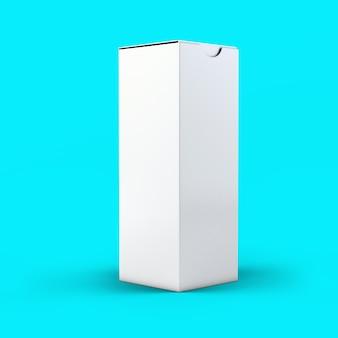 3d renderowania pudełko na butelki musujące na białym tle na toscha