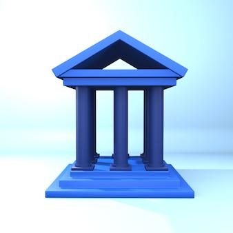 3d renderowania skrócona ilustracja. 3d skrócona ikona. izolowana ilustracja 3d na niebieskim tle