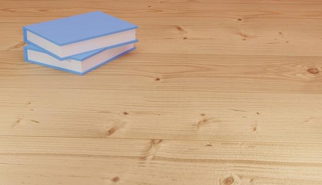 3d renderowania tła stosy książek do nauki i robienia notatek na stronach internetowych motyw szkolny