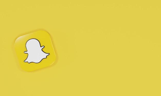 3d renderowanie ikona logo snapchat