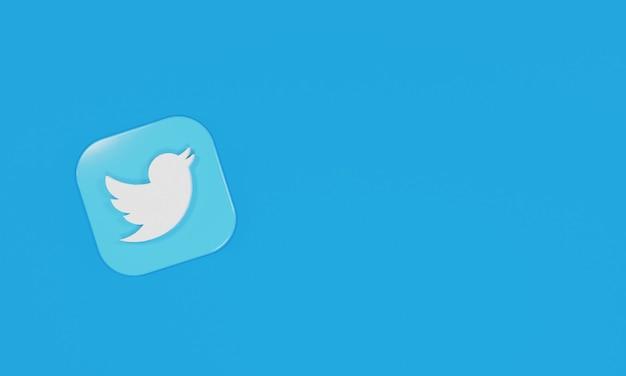 3d renderowanie ikona logo twitter