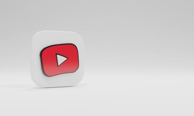 3d renderowanie ikona logo youtube dzieci realistyczne