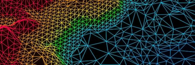 3d renderowany topograficzny model szkieletowy gradientowa wyspa kolorów