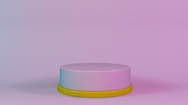3d scena podium z wyświetlaczem produktu z abstrakcyjną platformą geometryczną