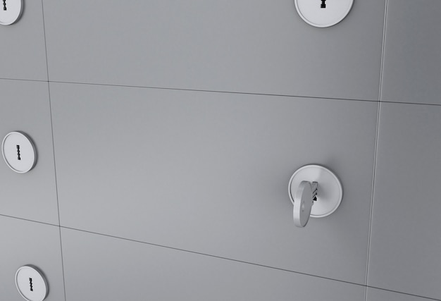 3d skrytka depozytowa z kluczem na keyhole.