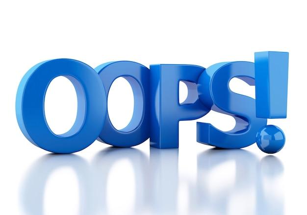 3d słowo oops
