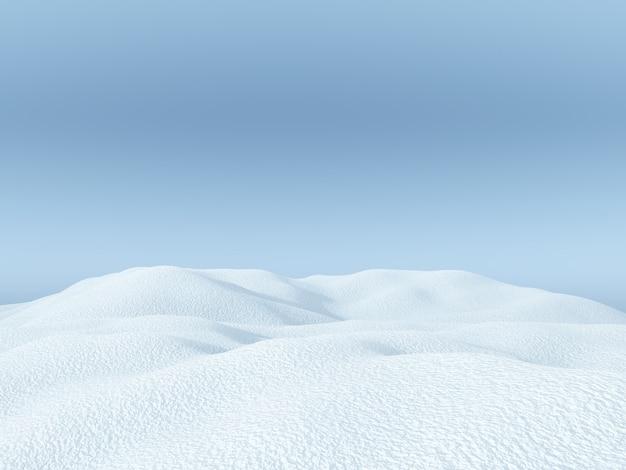 3d śnieżny krajobraz
