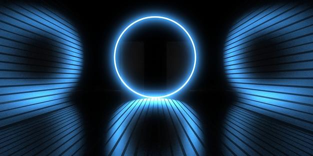 3d streszczenie tło z neonami. neonowy tunel. .budowa przestrzeni . .3d ilustracja33