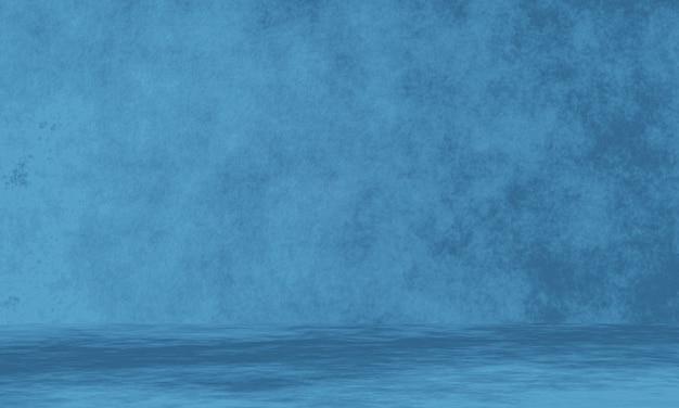 3d świadczonych niebieskim tle ściany cementu