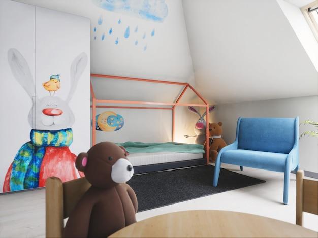3d świadczonych piękny pokój baby boy