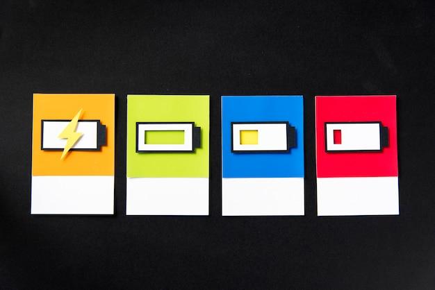 3d sztuka papieru rzemiosła ładowania baterii