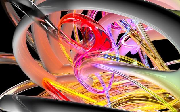 3d sztuki tło z częścią abstrakcjonistyczny turbinowy silnik
