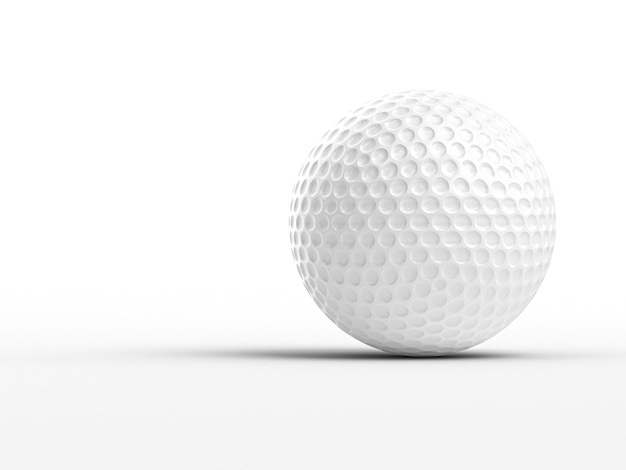 3d wizerunek klasyczna złocista piłka na białym tle