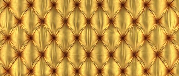 3d złoty tufted tło