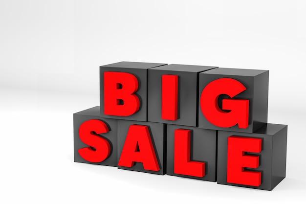 3d znak duży tekst sprzedaży