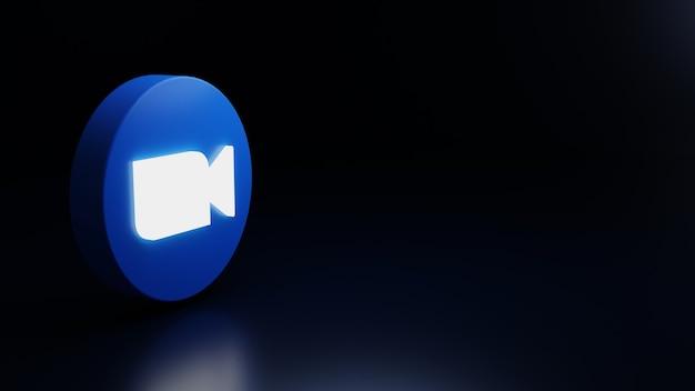 3d zoom ikona logo wysokiej jakości render