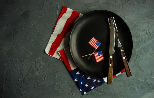 4 lipca ustawienie stołu