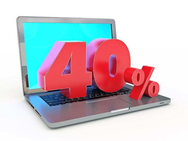 40 procent zniżki na laptop i zniżki w internecie