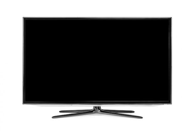 4k monitor na białym tle