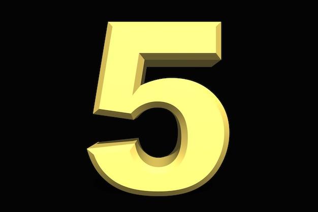 5 pięć liczb 3d niebieski na ciemnym tle