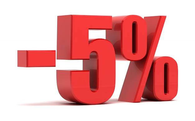 5 procent rabatu 3d tekst