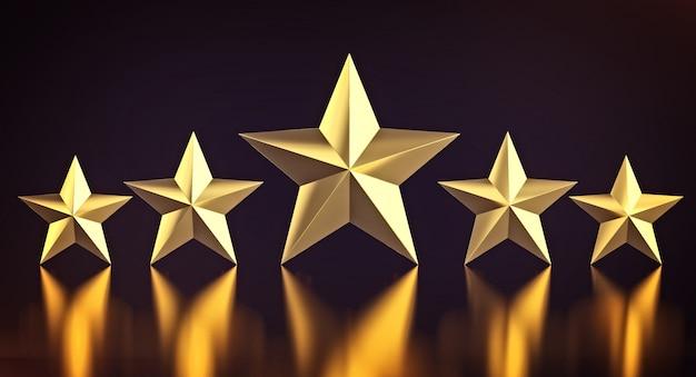 5 złotych gwiazd