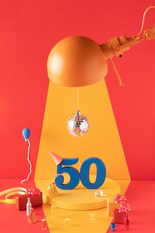 50-lecie aranżacji ze świątecznymi dekoracjami