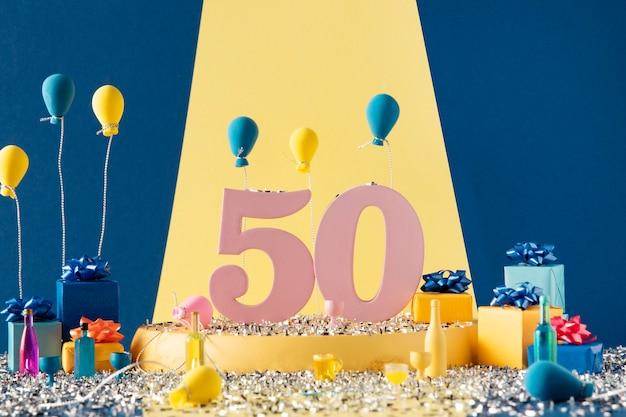 50. urodziny świąteczna aranżacja z balonami