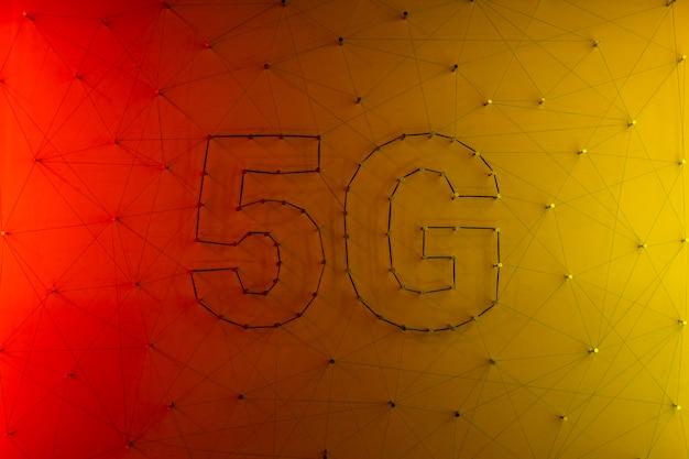 5g technologii danych w tle