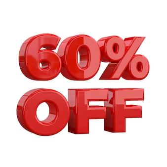 60% zniżki, oferta specjalna, świetna oferta, wyprzedaż. sześćdziesiąt pięć procent