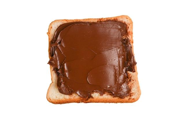 Â¡ kanapka z czekoladą na białym tle.